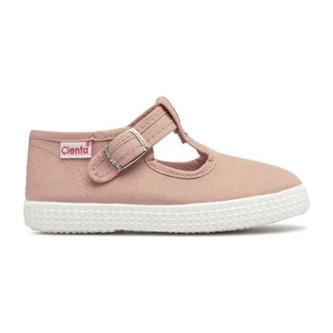 Buckle Canvas Sneakers, Old Pink