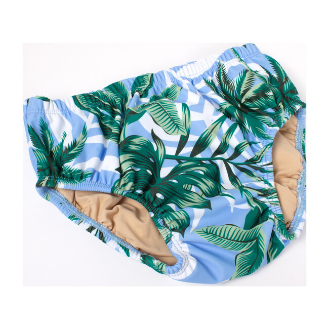 Diaper Cover, Blue Palm