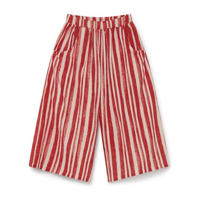 Swing Wide Pants, Red Stripe