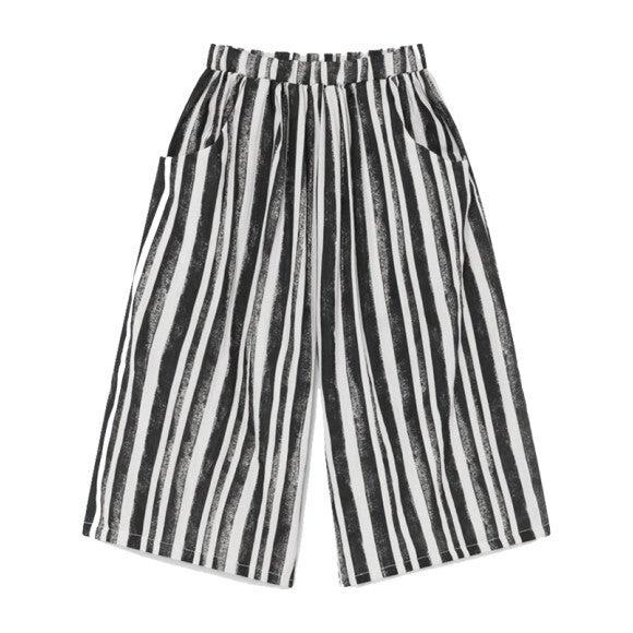 Swing Wide Pants, Black Stripe