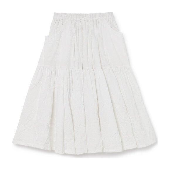 Swing Long Skirt, White
