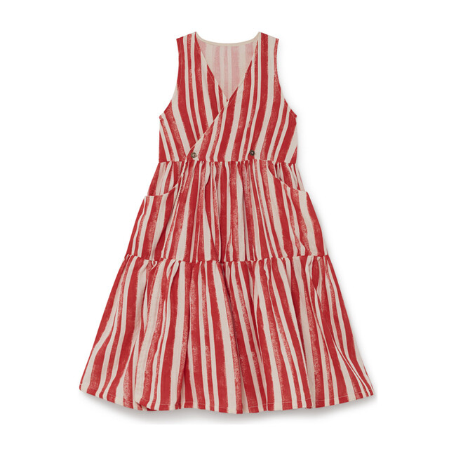 Swing Sundress, Red Stripe