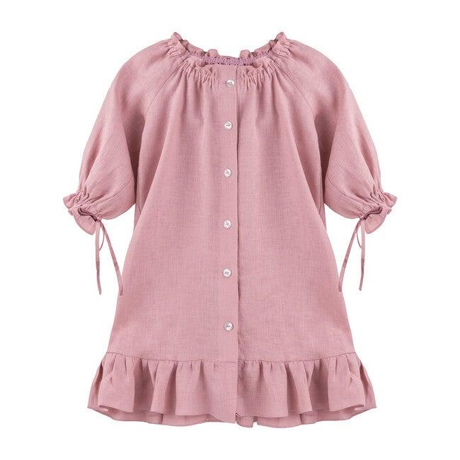 Macaron Linen Petit Dress, Pink