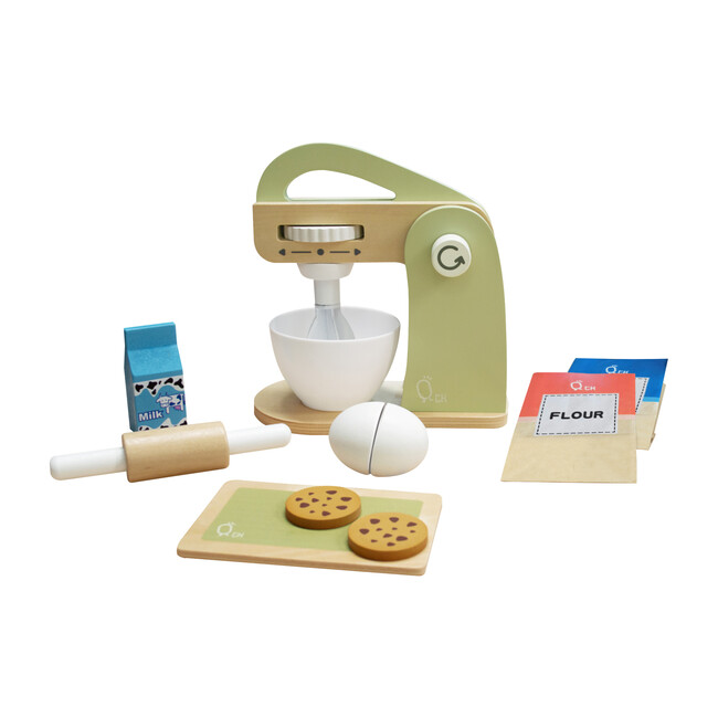 Little Chef Frankfurt Wooden Mixer Play Kitchen Accessories, Green