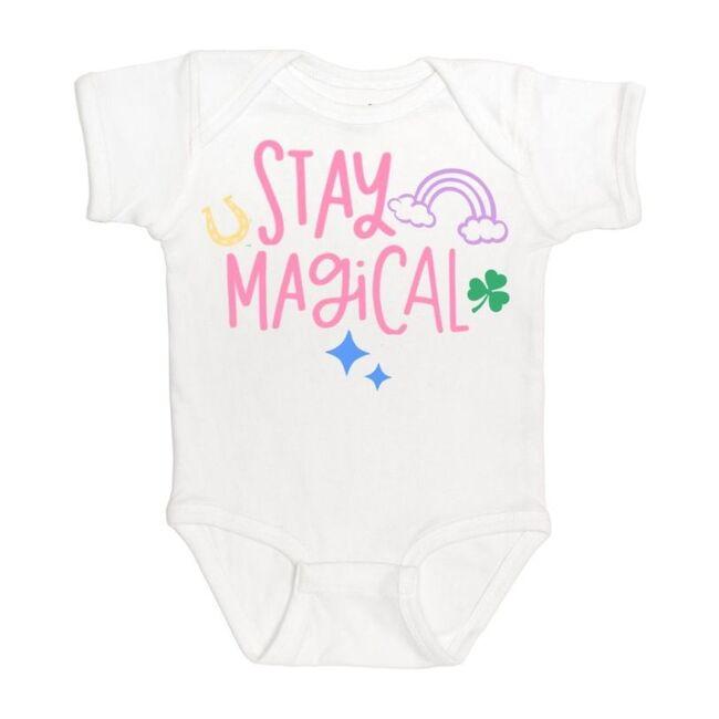 Stay Magical Short Sleeve Bodysuit, White