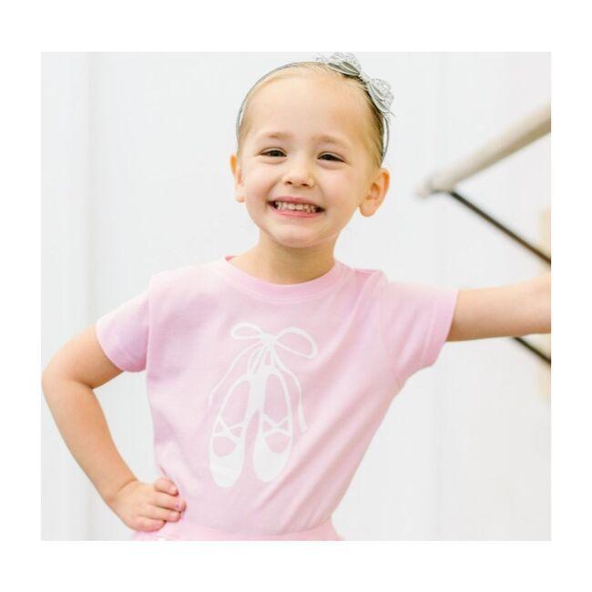 Ballet Shoes Short Sleeve Bodysuit, Light Pink