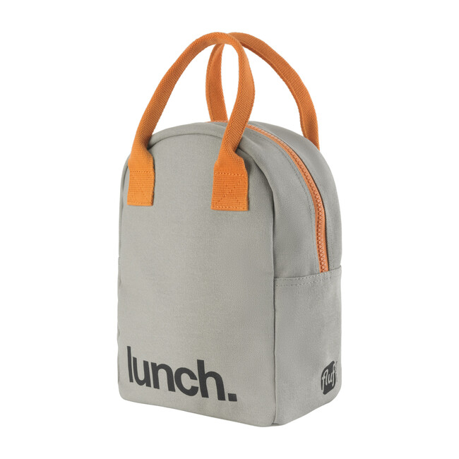 Zipper Lunch, Grey and Pumpkin