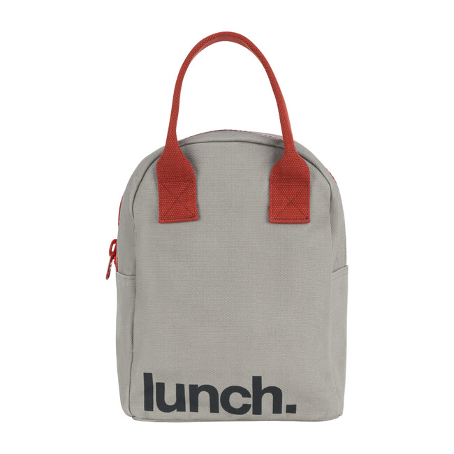 Zipper Lunch, Grey and Rust