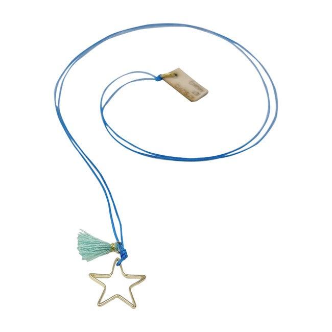 Ouroboros Star Necklace, Blue