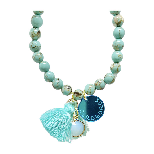 Ouroboros Bracelet, Blue - Bracelets - 1