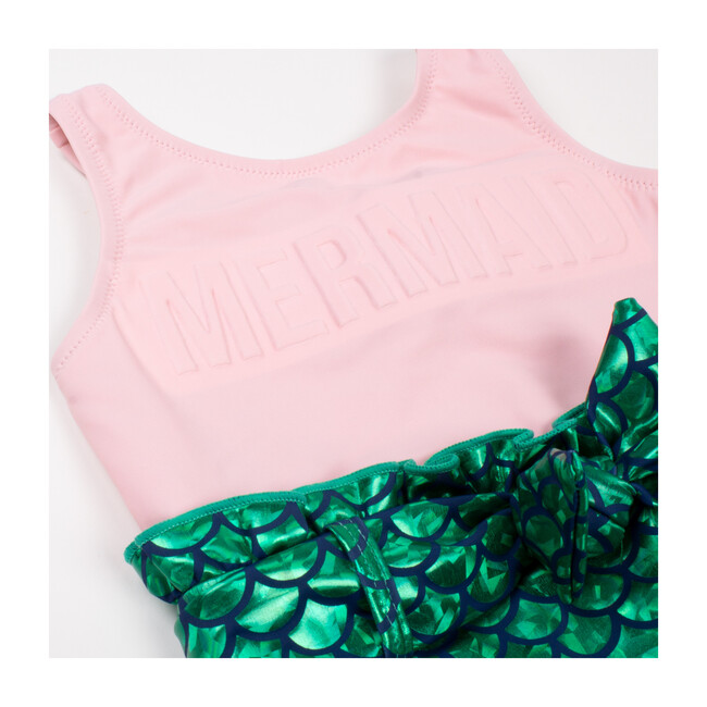 One Piece Mermaid Scale, Pink & Green