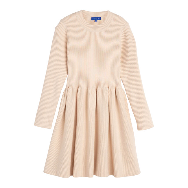 Lea Knit Dress, Winter Cream - Dresses - 1