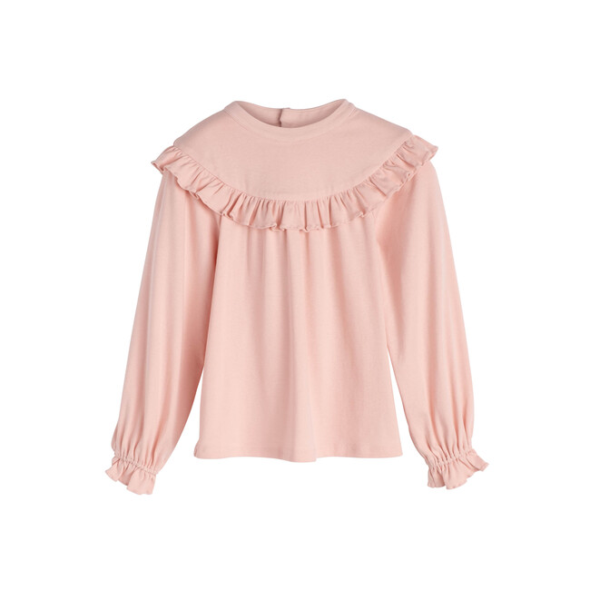 Zoe Ruffle Top, Blush