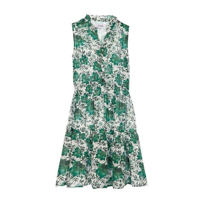 Sienna Dress, Vintage Green Flowers