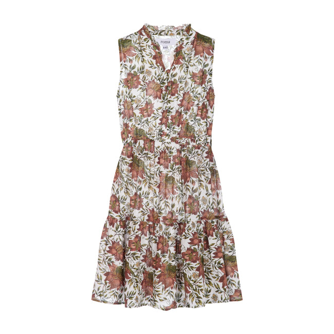 Sienna Dress, Vintage Rose Flowers