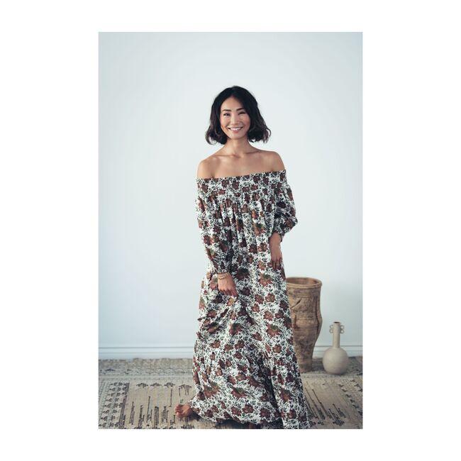 Women's Sofia Dress, Vintage Rose Flowers