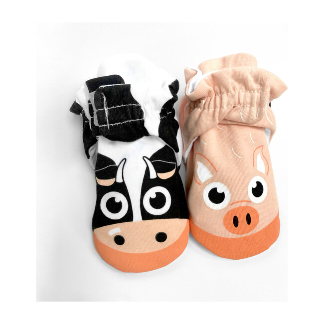 Calf & Piglet, Mismatched Baby Booties