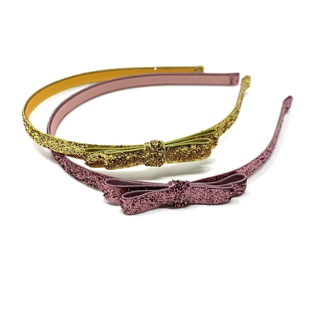 Glitter Headbands, Pink and Gold