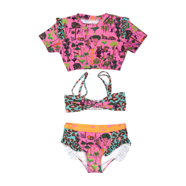 Three Piece Set, Jungle Pink