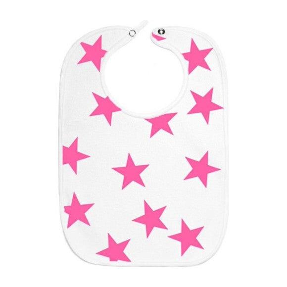 Pink Bold Star Bib