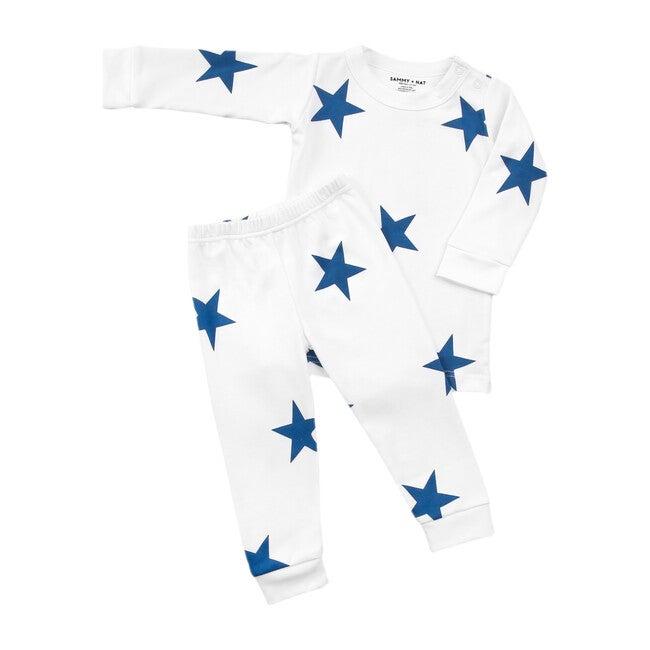 Bold Blue Star Two Piece Pajama