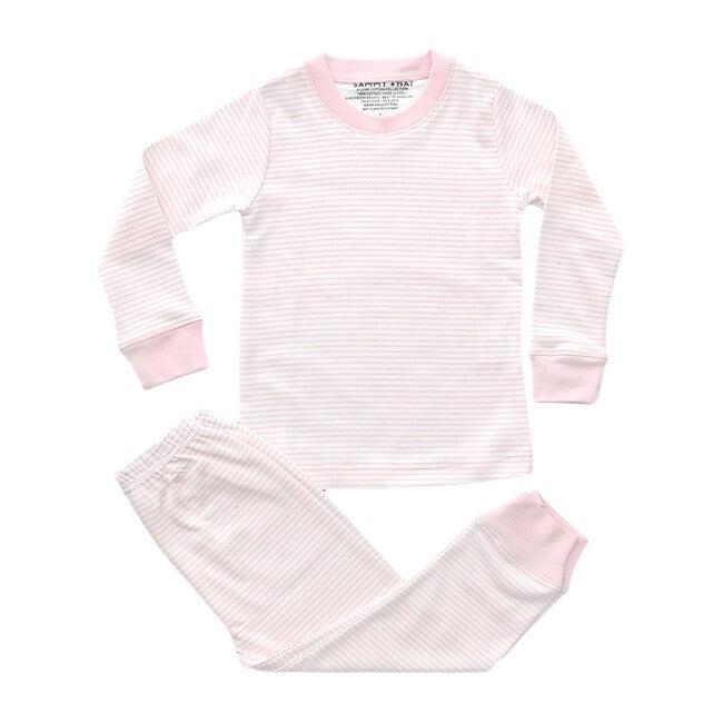 Classic Striped Pajamas, Pink - Pajamas - 1