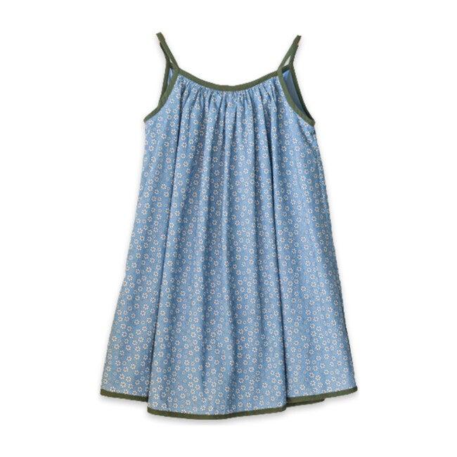 Isla Dress, Blue Fowers