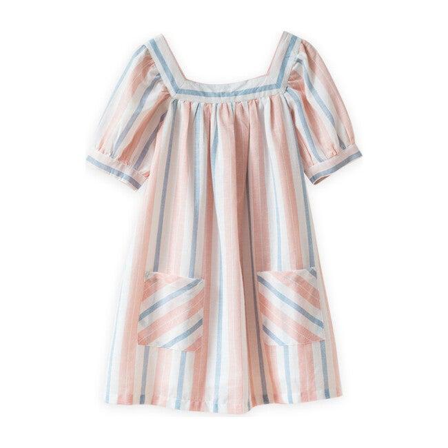Cece Dress, Pastel Stripe