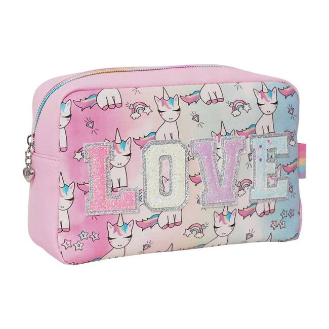 LOVE Lil' Miss Gwen Print Ombre Cosmetic Pouch, Cotton Candy