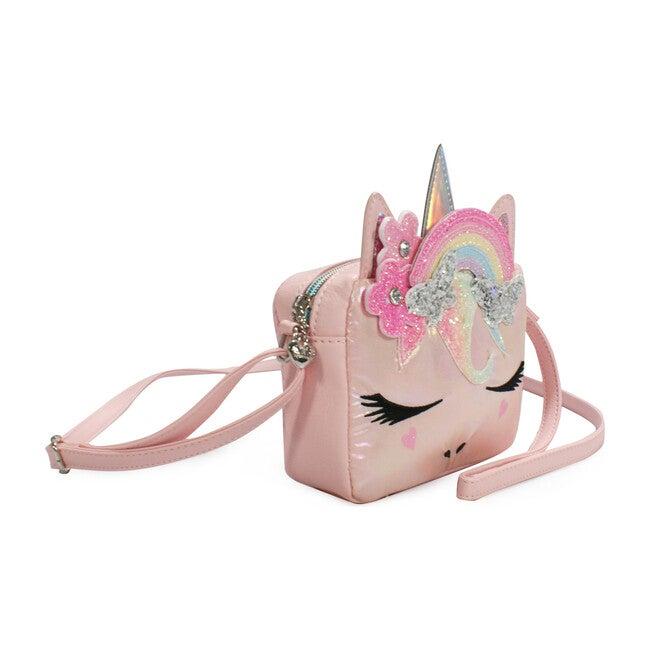 Miss Gwen Rainbow Butterfly Crown Metallic Crossbody, Pink