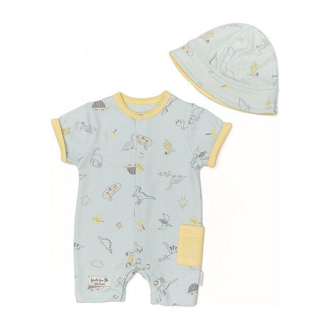 Overall Romper & Hat Set, Mint