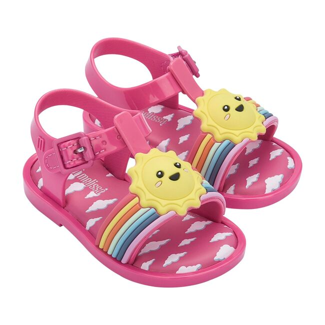 Mini Mar Sandal Sunny Day BB, Pink/Pink/Yellow