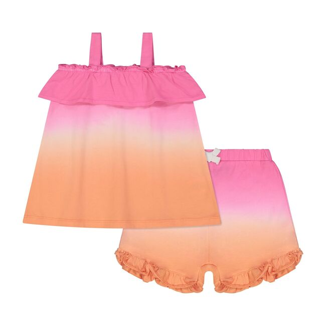 Shorts Set, Pink Ombre