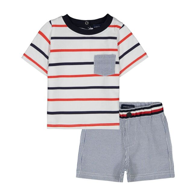 Tee Shirt Set, Nautical Stripe
