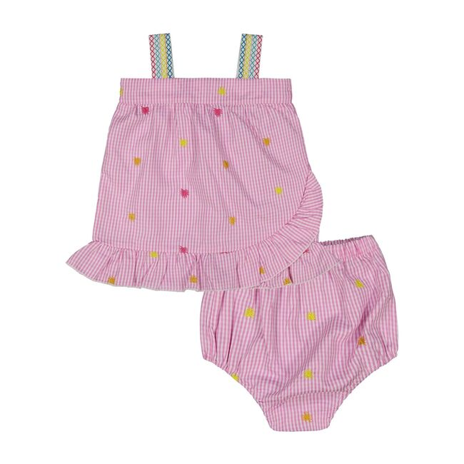 Baby Gingham Ruffle Set, Pink
