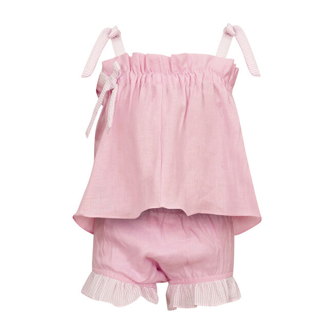 Chloe Linen Set, Shocking Pink
