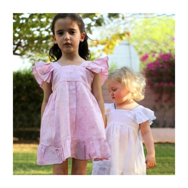 Celine Linen Dress, Shocking Pink