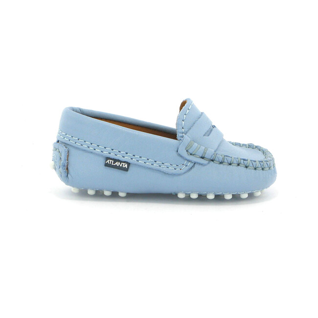 Baby Penny Mocassin in Smooth Leather, Sky Blue