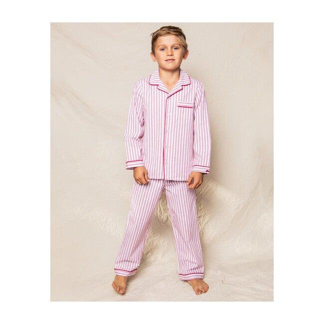 Pajama Set, Antique Red Ticking
