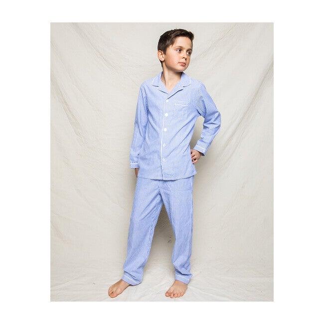Blue Seersucker Pajamas