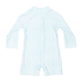 Mini Taylor Baby LS Sunsuit, Sea Glass Stripe