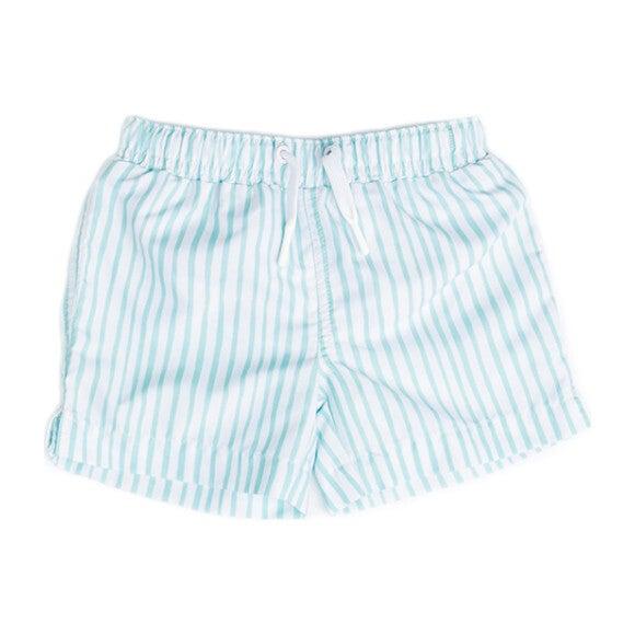 Mini Major Boys Boardshort, Sea Glass Stripe