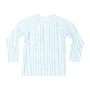 Mini Blake Kids Long Sleeve Rash Guard, Sea Glass Stripe
