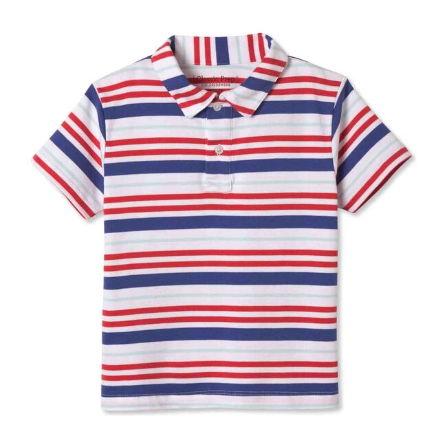 Henry Short Sleeve Polo, Bittersweet Multistripe