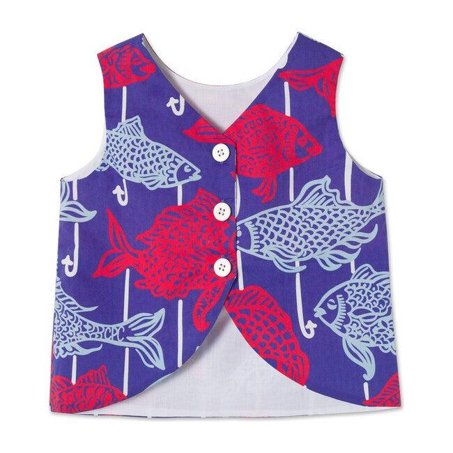 Kingsley Top, Fishy Fishy Print
