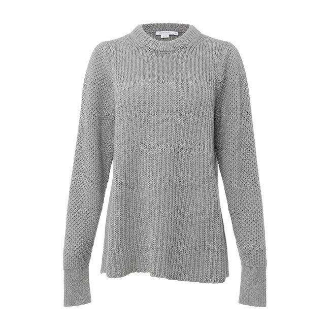 Maternity Puff Sleeve Crewneck Sweater