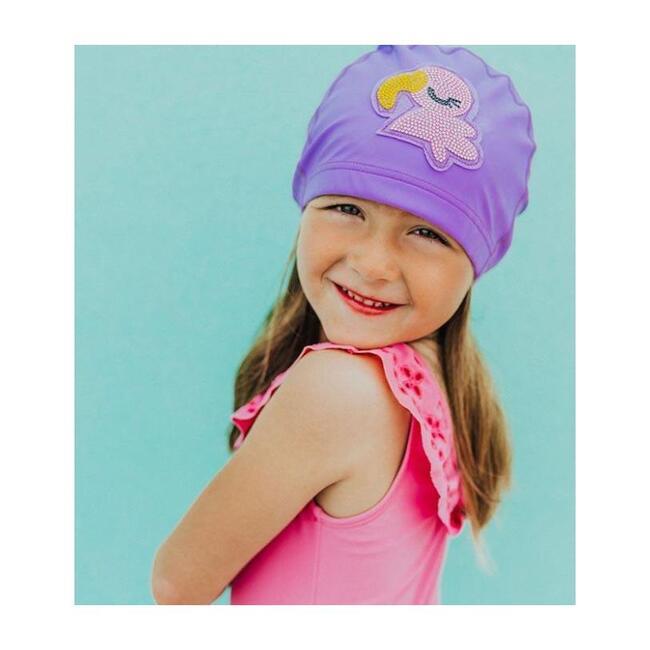 Violet the Flamingo Swim Cap