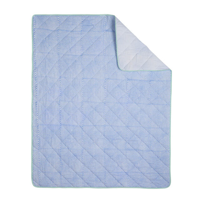 Tom Baby Quilt, Blue