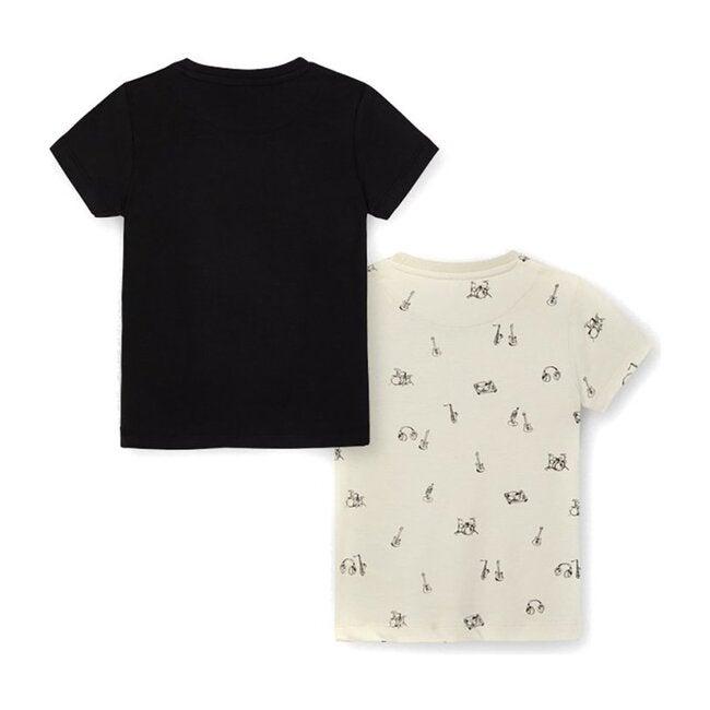 Sound Graphic T-Shirt Set, Black