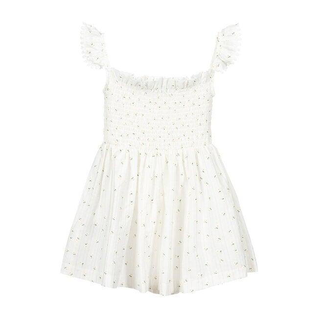 Sleeveless Daisy Dress, Ivory